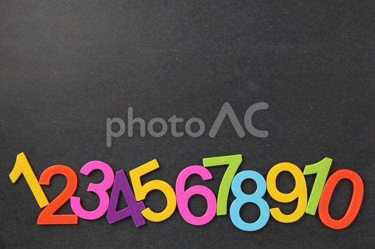 黒板と数字1の写真