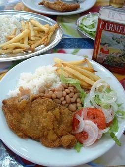 Brazilian lunch set meal