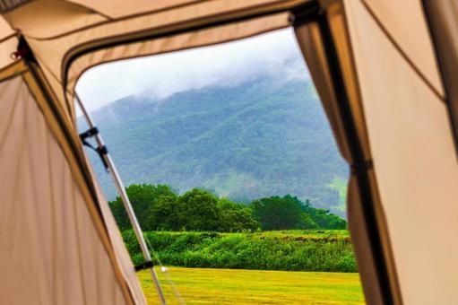 야외 캠핑 텐트 이미지