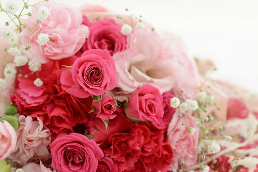 花束粉紅色花卉圖案