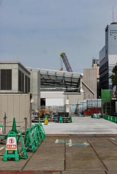 Scenery under construction of Shimokitazawa Station on the Odakyu Line