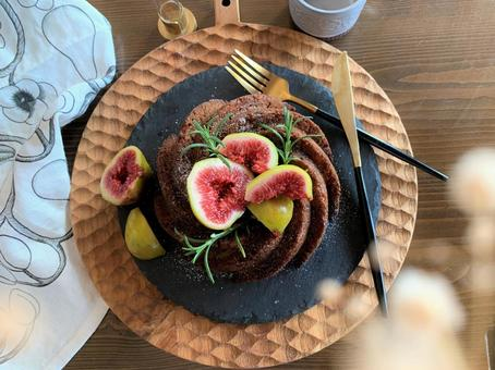 Flowerless fruit and red wine cake Oil cake fig