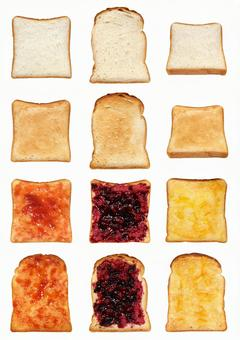 Cut out material square type bread & amp; mountain type bread set 3