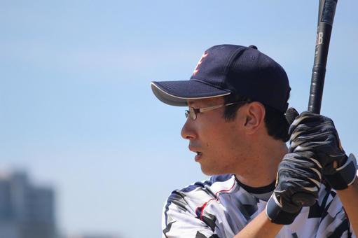 Male person baseball batter