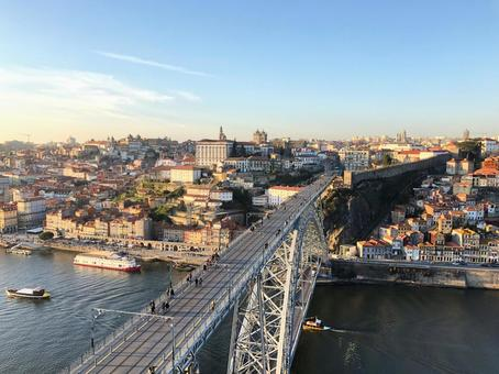 포르투 (포르투갈)의 풍경 세계 유산의 거리와 돈루이스 1 세 다리