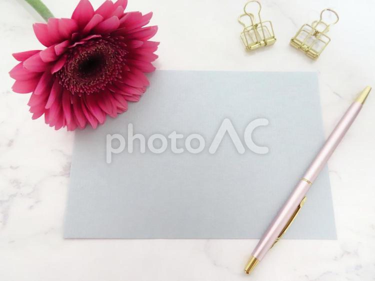 お花のグリーティングカードの写真