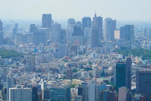 Shinjuku scenery from Roppongi Hills Observatory