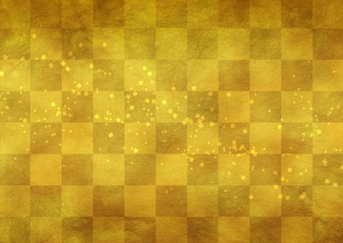 Golden paper Gold leaf Japanese paper style texture