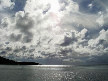 가고시마의 낙도에서 보는 하늘과 바다