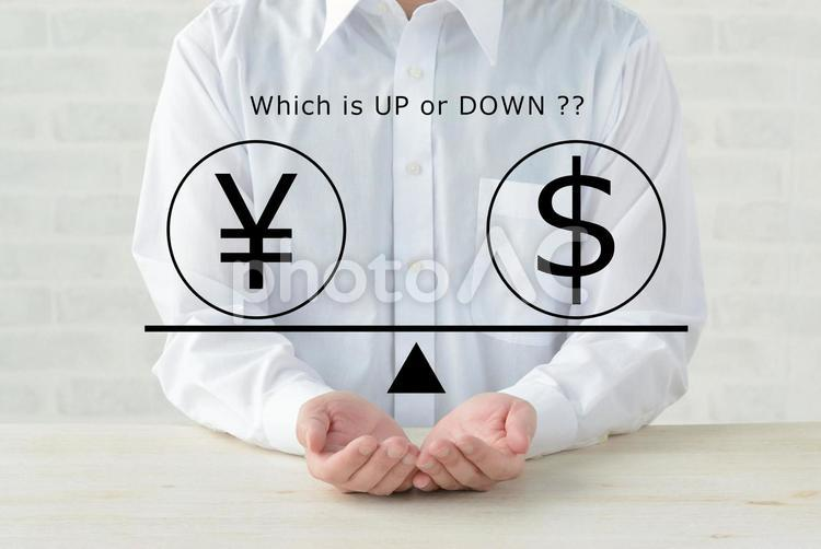 円とドル・為替イメージの写真