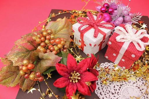 圣诞礼物和一品红3