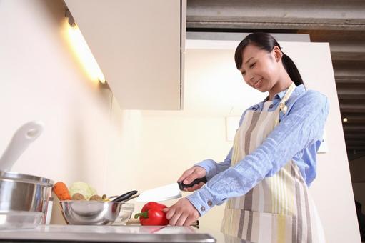 요리를하는 여자 5