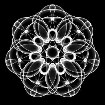 Ornament pattern 088 monochrome