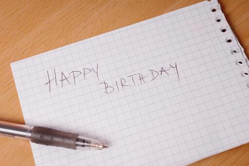 Handwritten birthday card