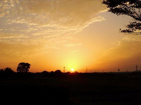 日落日落日出