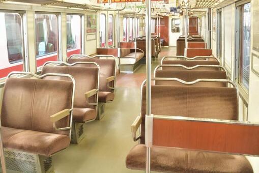 복고풍 기차 좌석