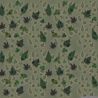 나뭇잎 패턴 _ 어두운