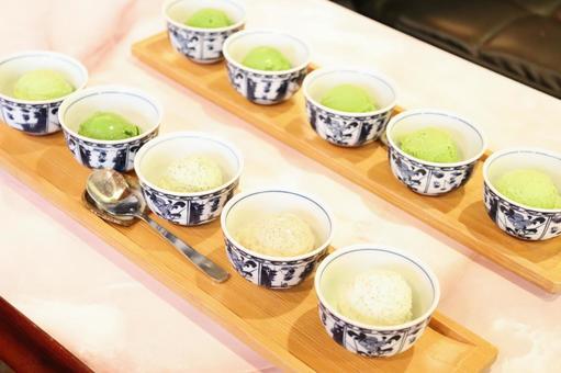 Five-tiered green tea ice cream ⑦