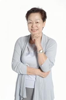 Senior woman smiling 6