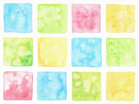 Cool watercolor corner material