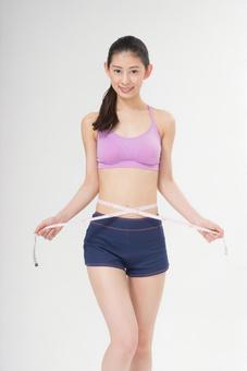 Women measuring waist 3