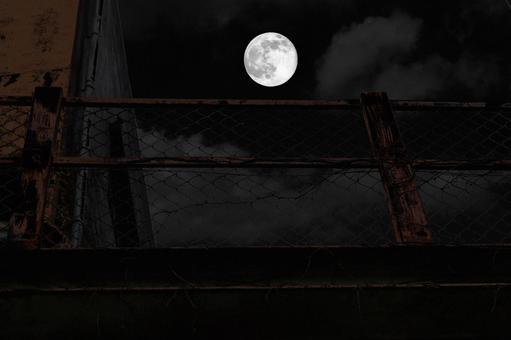 Moonlit night horror image background