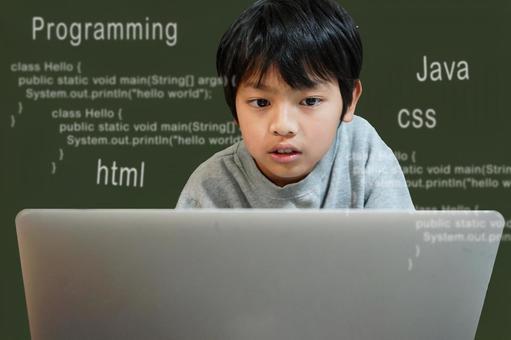 孩子們學習編程