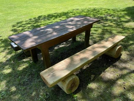 Park tables and benches