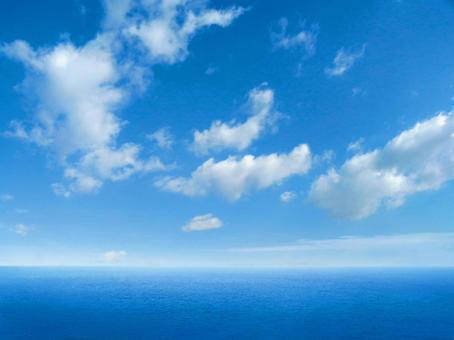大海原 空と海の水平線