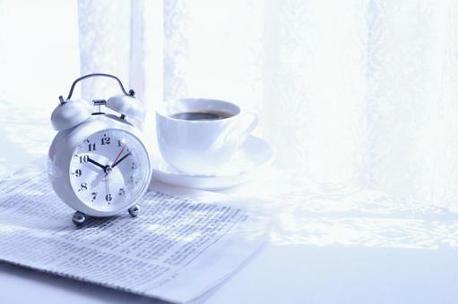 Morning sunshine and alarm clock