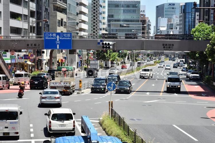 東京の街並み 渋谷 宮益坂付近の写真