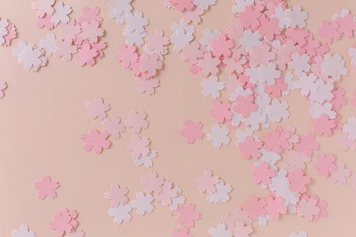 Image of admission and graduation Sakura background