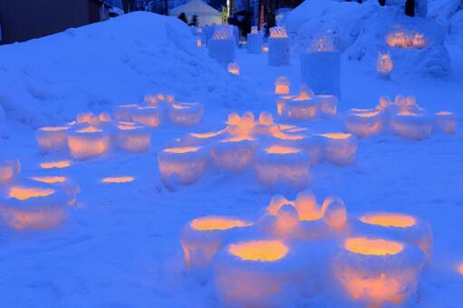 The 20th Otaru snow light path 8