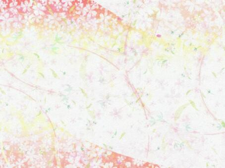 Cherry blossoms wallpaper background texture Japanese paper