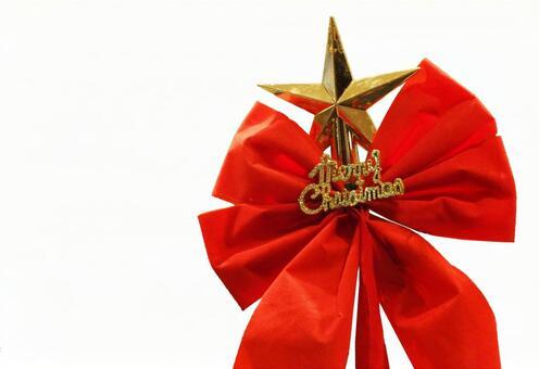 Christmas tree stars and ribbons