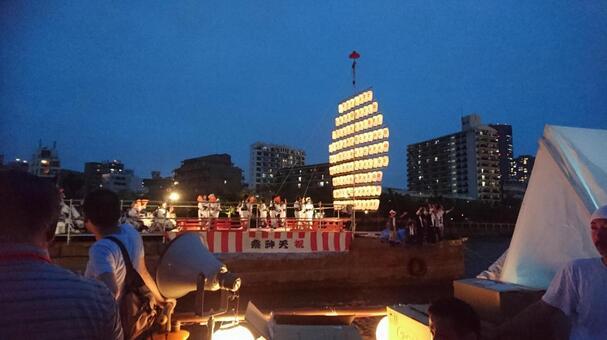 Summer festival ship