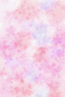 Watercolor / texture / cherry tree 【TKPp】