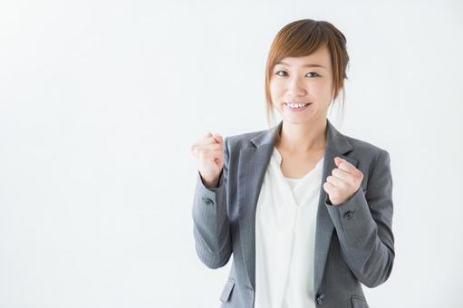 Business woman to pose in guts