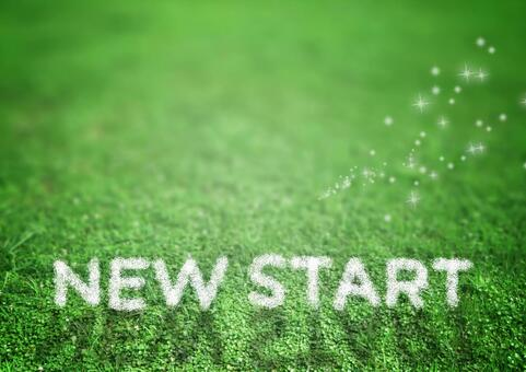 New Start green background