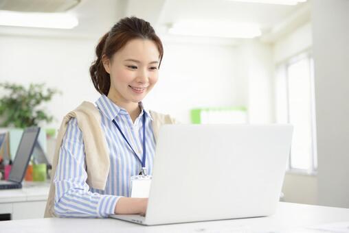 Career woman using a laptop computer 21