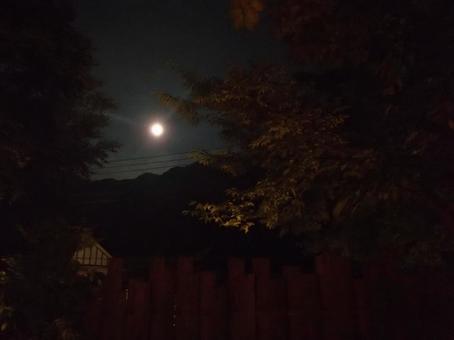 노천탕에서 보는 달