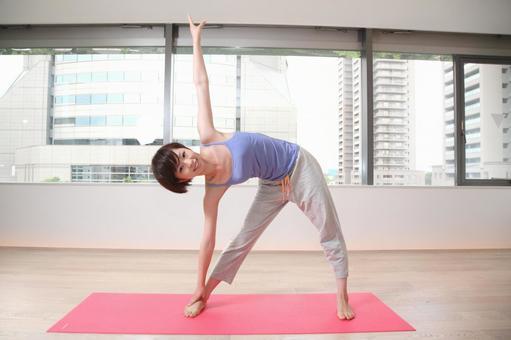 A woman doing yoga 8