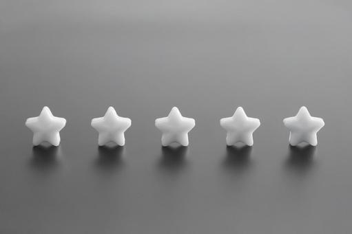 Five star black and white