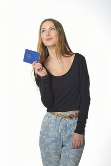 여권을 가진 여자 6