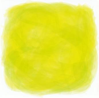 Yellow green square watercolor style handwritten texture background material