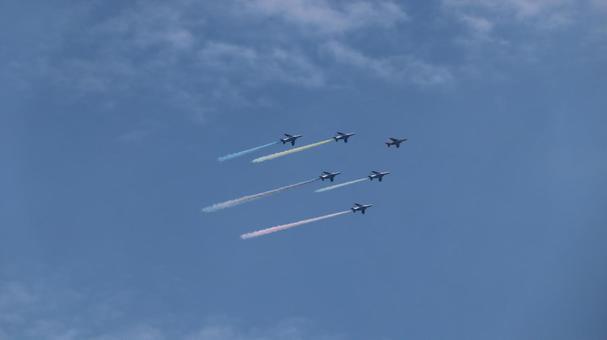 Blue Impulse Olympic Exhibition Flight