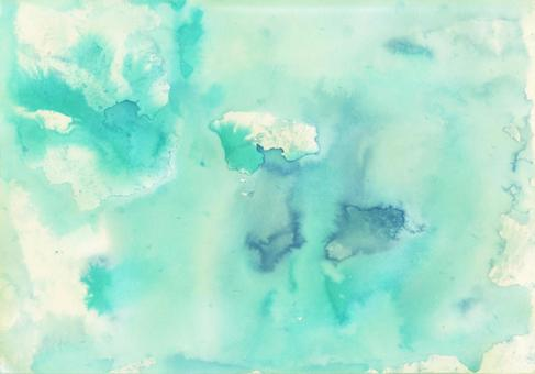 Background texture material watercolor blue green 01