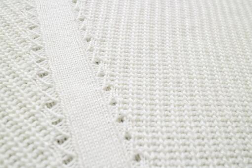 針織物白的背景紋理材料
