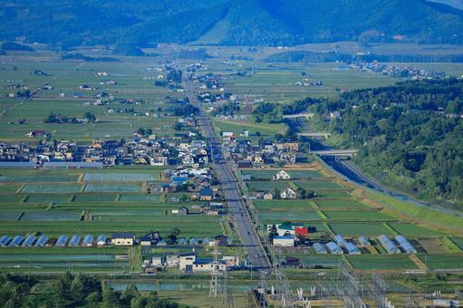 View from Arashiyama Observatory To Takasu Town
