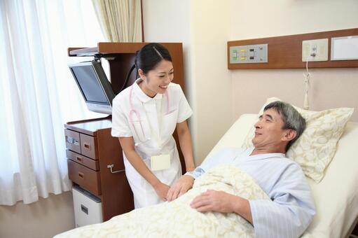 Nurse and male patient 6
